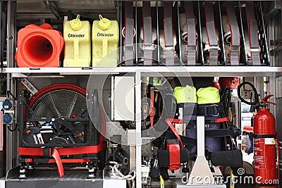 Equipment in a firetruck