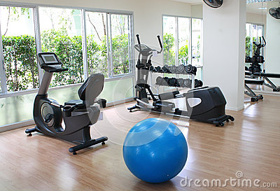 Equipment in fitness room