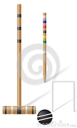Free Equipment For Croquet Vector Illustration Royalty Free Stock Photos - 32504188