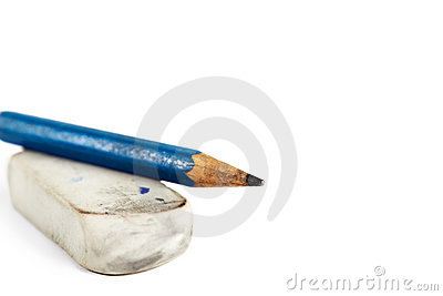 Eraser with pencil