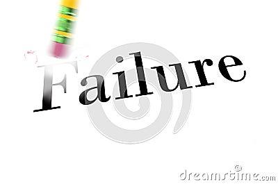 Erasing Failure with Pencil Eraser