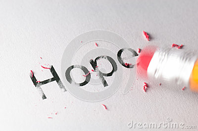 Erasing Hope Royalty Free Stock Photo - Image: 27848915