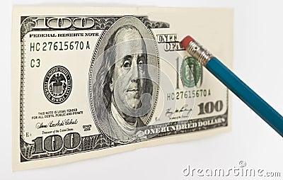 Erasing hundred dollar