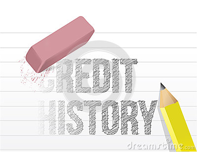 Erasing your credit history concept