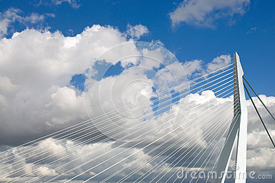 Erasmus bridge, Rotterdam Editorial Stock Photo