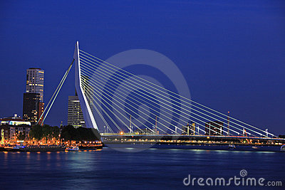 Erasmus bridge, Rotterdam Editorial Image
