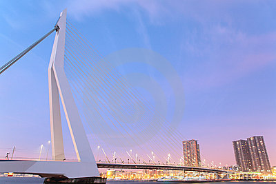 Erasmus Bridge - Rotterdam Editorial Photo