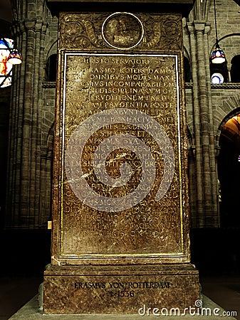 Erasmus from Rotterdam grave