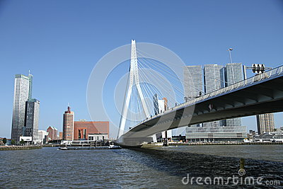 Erasmusbridge rotterdam Editorial Stock Photo