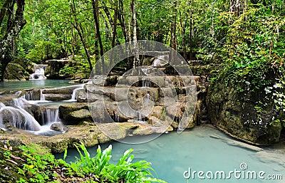 Erawan cascade falls
