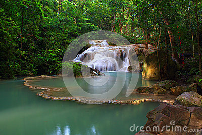 Erawan Waterfall, Royalty Free Stock Photo - Image: 26549815