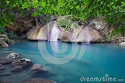 Erawan Waterfall in Thailand