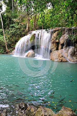 Erawan Waterfall, Thailand Editorial Stock Photo