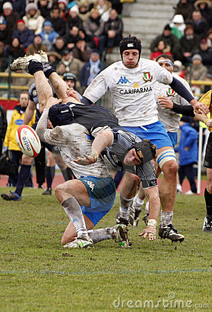 ERB Six Nations Rugby - Italy vs Scotland Editorial Stock Image