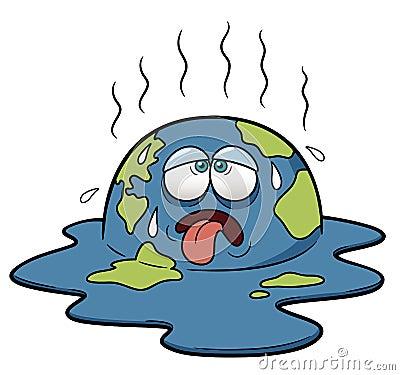 Erde bei heißem Wetter