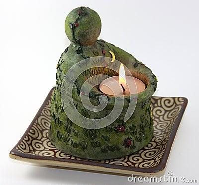 Erde-Kerze