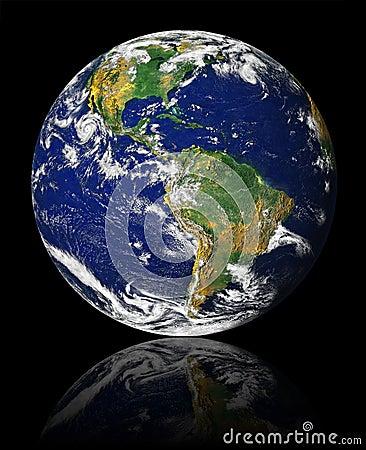 Erde mit Reflexion