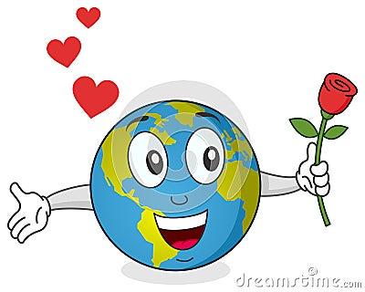 Erde mit Rosen-Zeichen