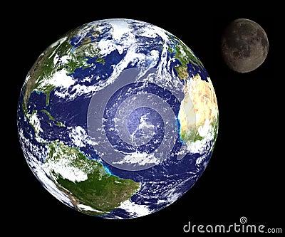 Erde u. Mond