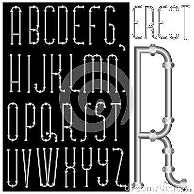 Erect font