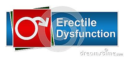 Erectile Dysfunction Blue Red Green Banner