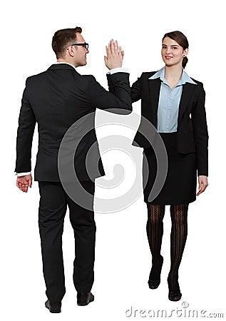 Erfolgreiche Geschäfts-Paare