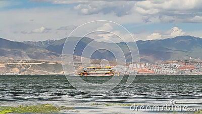 Erhai Jeziorny rejs w Dal, Yunnan, Chiny zdjęcie wideo