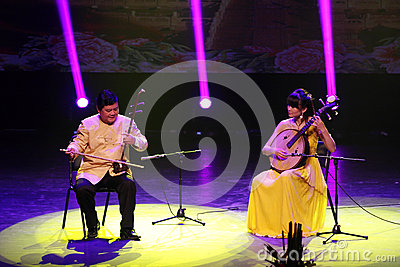 Erhu and Ruan performs at Bahrain APRIL 27, 2013 Editorial Image