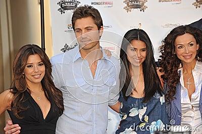 Eric Winter, Eva Longoria, Roselyn Sanchez, Sofia Milos Editorial Stock Photo