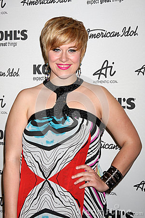 Erika Van Pelt arrives at the American Idol s  Editorial Image