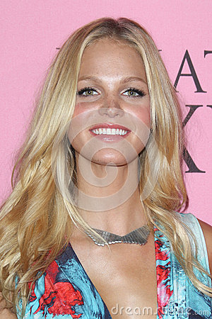 Erin Heatherton arrives at the Victoria s Secret What Is Sexy? Party Editorial Stock Photo