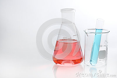 Erlenmeyer flask and tube