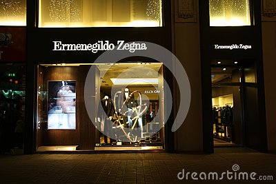 Ermenegildo Zegna store Editorial Stock Photo