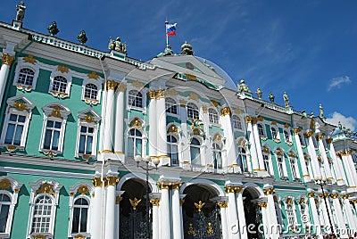 Ermitage - borne limite russe célèbre