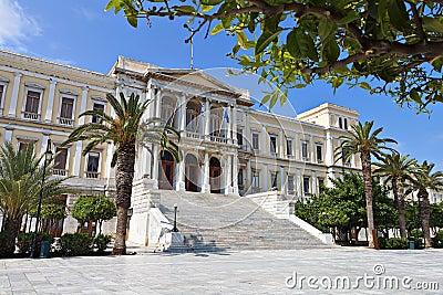 Ermoupoli town at Syros island