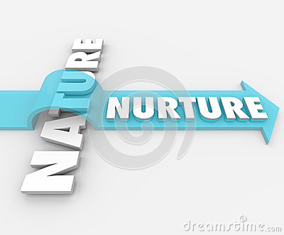 Ernähren Sie gegen Natur-Pfeil über Wort-Psychologie