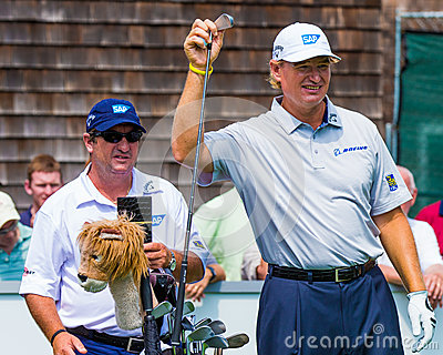Ernie Els at the 2012 Barclays Editorial Photo