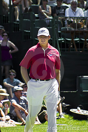 Ernie Els on the 9th Green Editorial Stock Photo