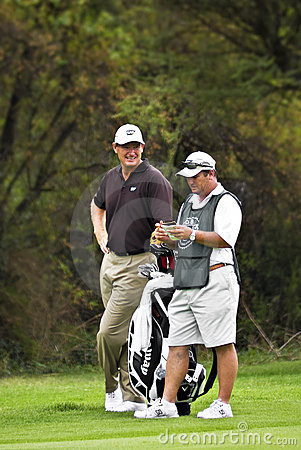 Ernie Els and Caddie - NGC2010 Editorial Photography