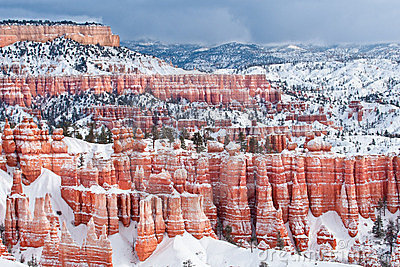 Eroded Cliffs Of Bryce Canyon National Park