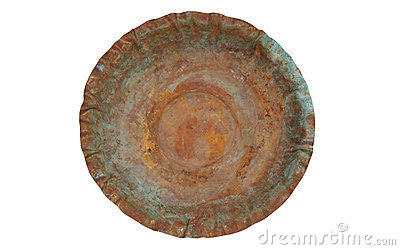 Eroded copper plate