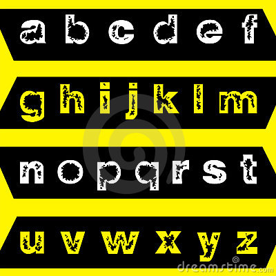 Eroded font