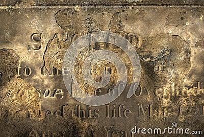Eroded Gravestone