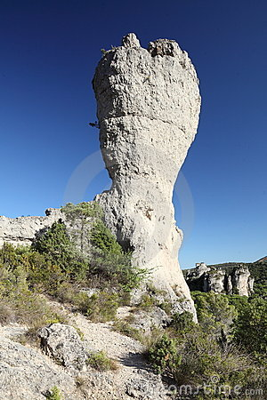 Eroded rock formation
