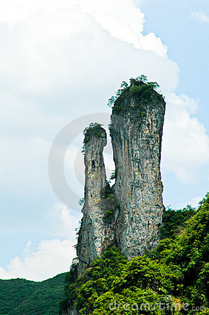 Eroded rock stacks