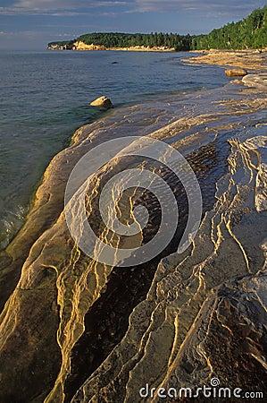 Eroded Sandstone Shoreline