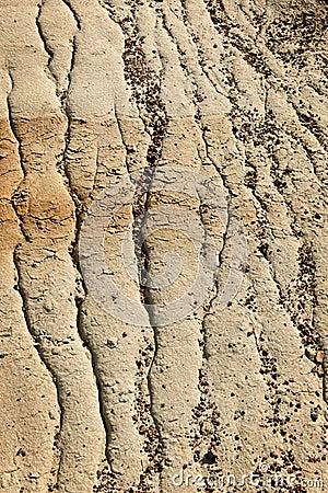 Eroded soil