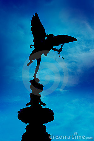 Free Eros Statue On Blue, Piccadilly Circus, London Royalty Free Stock Images - 16547739