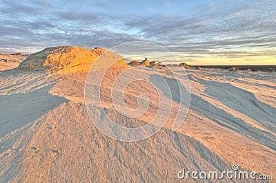 Erosion patterns in Mungo National Park