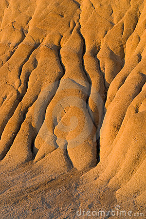 Free Erosion Rills In Badlands Royalty Free Stock Images - 13748199